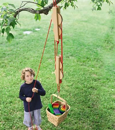 Pulley Set with Wooden Reels and Nylon Ropes   Do I see this in my grandson's future? Hmmmm