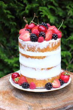 Naked cake aux fruits rouges 2