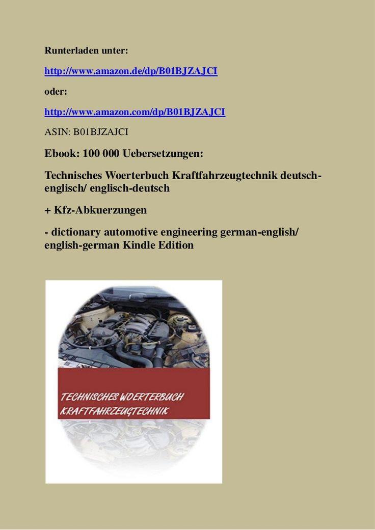 german-english dictionary of automotive terms - deutsch-englisch auto woerterbuch