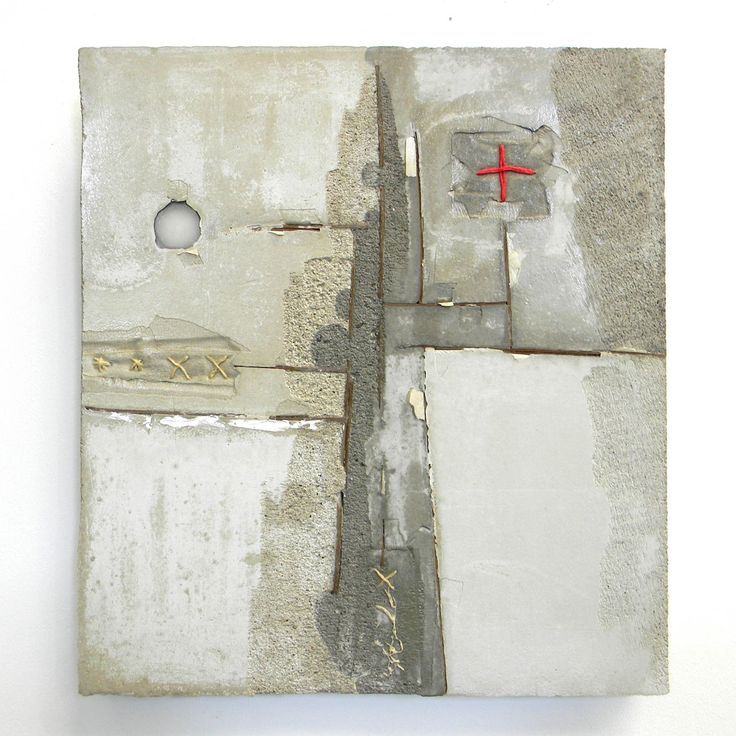 concrete and textile pieces by Dutch artist Marlie Hoevers.
