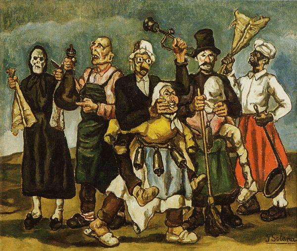 José Gutiérrez Solana  (Madrid, 1886 - ibíd. 24 de junio de 1945) -- Carnaval