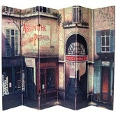 Found it at Wayfair - Double Sided French Cafe Canvas 6 Panel Room Divider