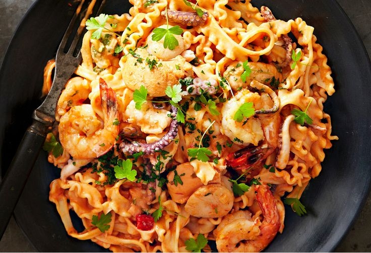 A classic pasta dish for seafood lovers.