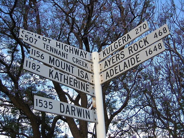 You are in Alice Springs, everything else is that way