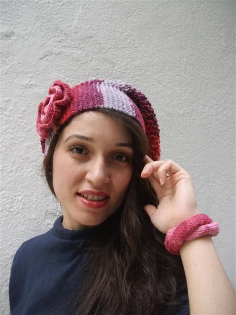 Hat Hat Brooch and Knitted Wrist Band by neduk on Etsy