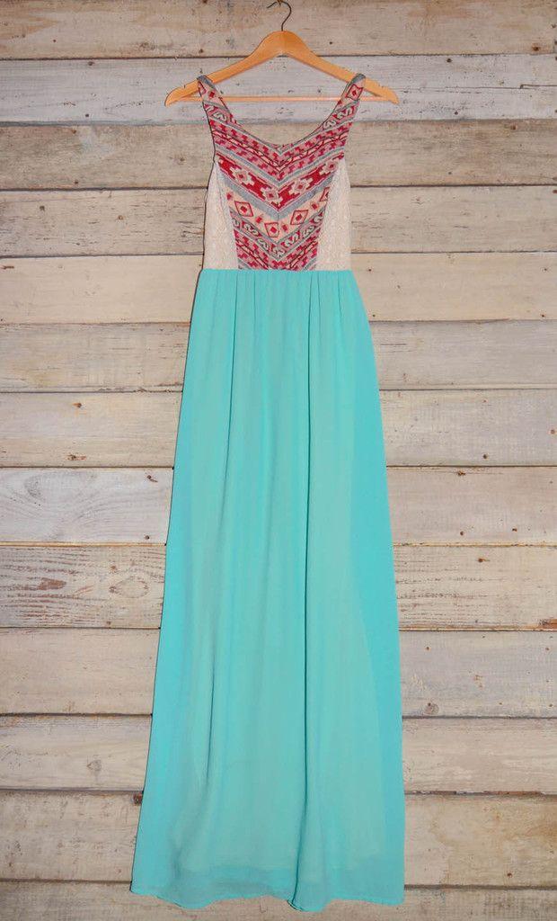 Sleeveless Aztec Print Maxi Dress – Deep South Pout