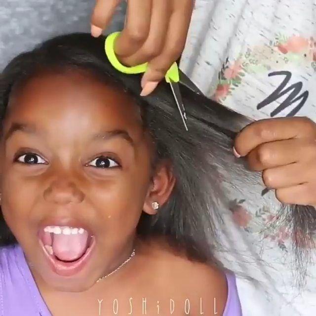Vidéo : jolie Coiffure enfants sur cheveux crépus.
