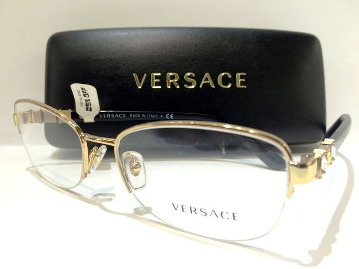 77b354a18ffed New Versace VE 1230-B Eyeglasses Frames Black Gold 1002 Authentic 54mm   Versace - Sale! Up to 75% OFF! Shop at Stylizio for women s and men s  designer ...