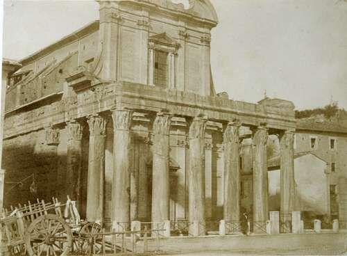 Rome, Temple of Antoninus and Faustina 1850 (ca)