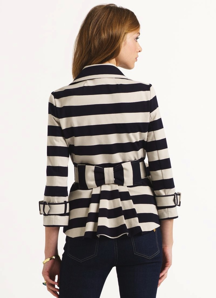 Bow Jacket by Kate Spade. Love the style, but the colors look not so great
