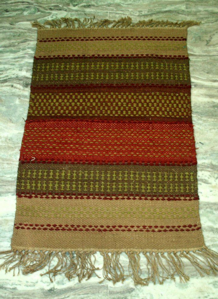 Indian Door Mat,Small Jute Rug Small Area Rug,Carpet Kitchen Bath Mat #Handmade #DoorMat