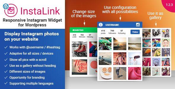 InstaLink - Responsive Instagram Widget Wordpress