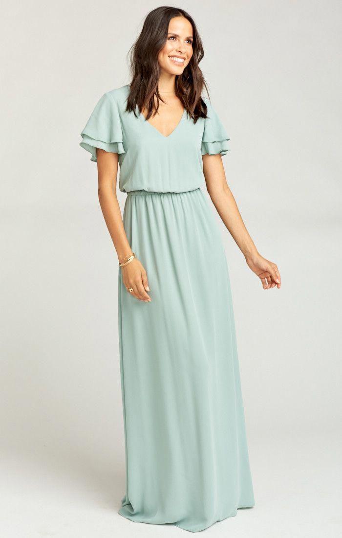 d9e44a9a589 Michelle Maxi Dress ~ Silver Sage Crisp