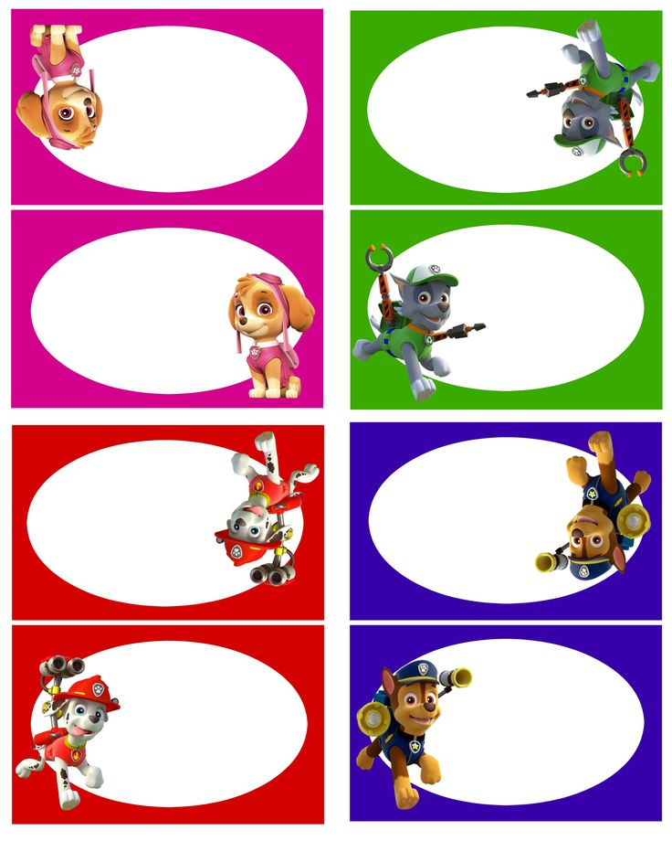 Paw Patrol Food Labels 1 free printable