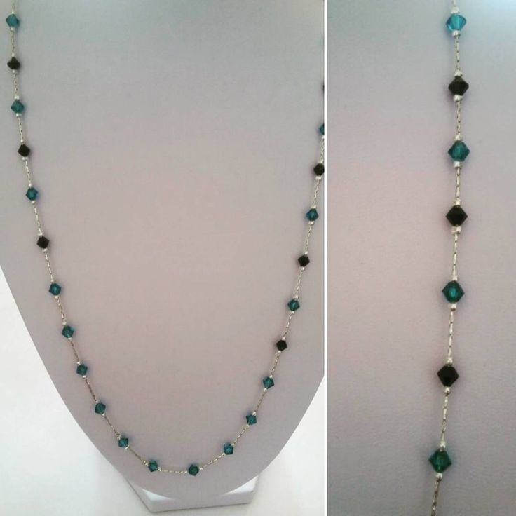 Swarovski and sterling. #chain #necklaces simplicity