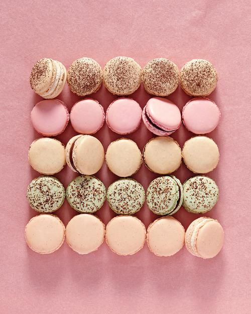 Let's Make Macarons! Espresso, Mocha, Chocolate Mint, Toasted Hazelnut Chocolate, Vanilla Bean, and Rose Raspberry recipes