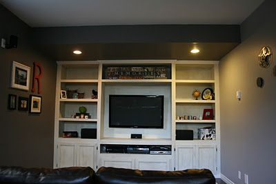 Built in TV Unit - http://creativeraisins.blogspot.com/2011/10/man-room-built-in-tv-unit.html