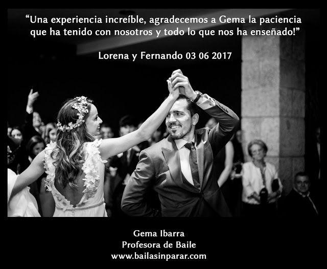 """Baile Nupcial en Madrid Clases particulares: """"Una experiencia increíble, agradecemos a Gema la ..."""
