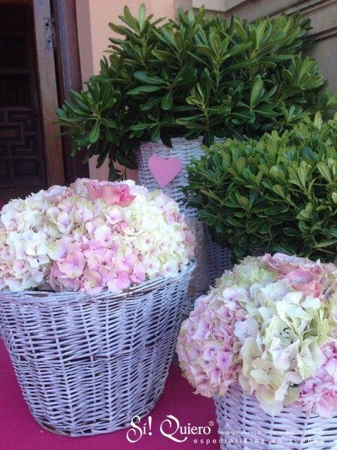 hortensias decoracion floral iglesia sotogrande en rosa
