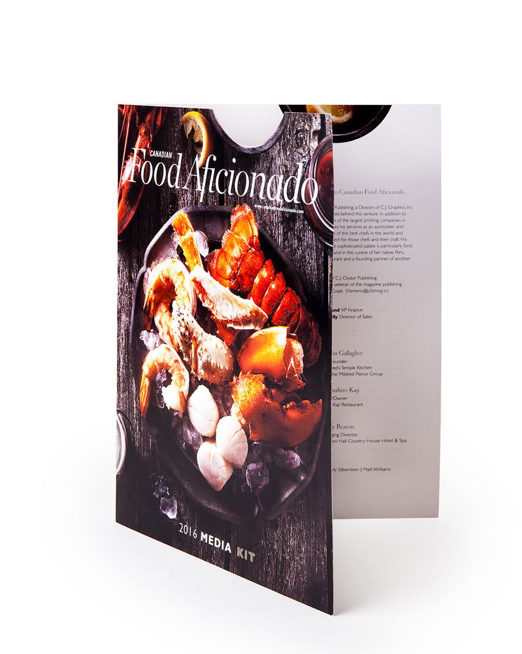 food magazine designed by cj graphics digitally cut creased by highcon euclid
