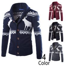 New Design Autumn Men's Sweater Casual Thick Christmas Mens Cardigans Sweater Men Full Sleeve Hooded Knitted Masculino Hombre(China (Mainland))