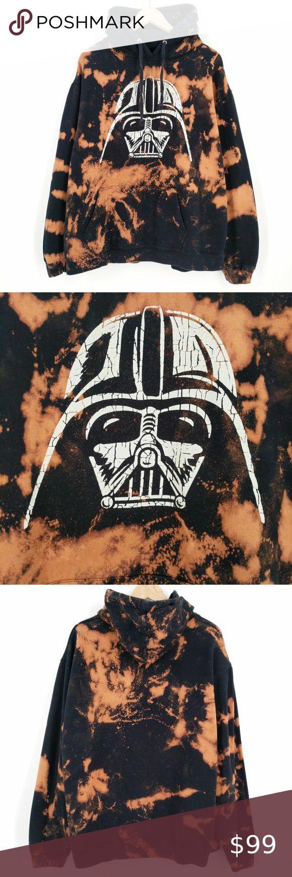 Custom Darth Vader Star Wars Bleach Dye Hoodie Xxl Bleach Dye Star Wars Shirts Hoodie Xxl [ 1740 x 580 Pixel ]