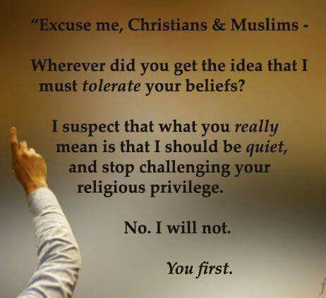 Atheists are expected to live in silence while believers are free to proudly express their beliefs.