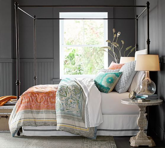 Antonia Canopy Bed Design Fabric Wallpaper Paint