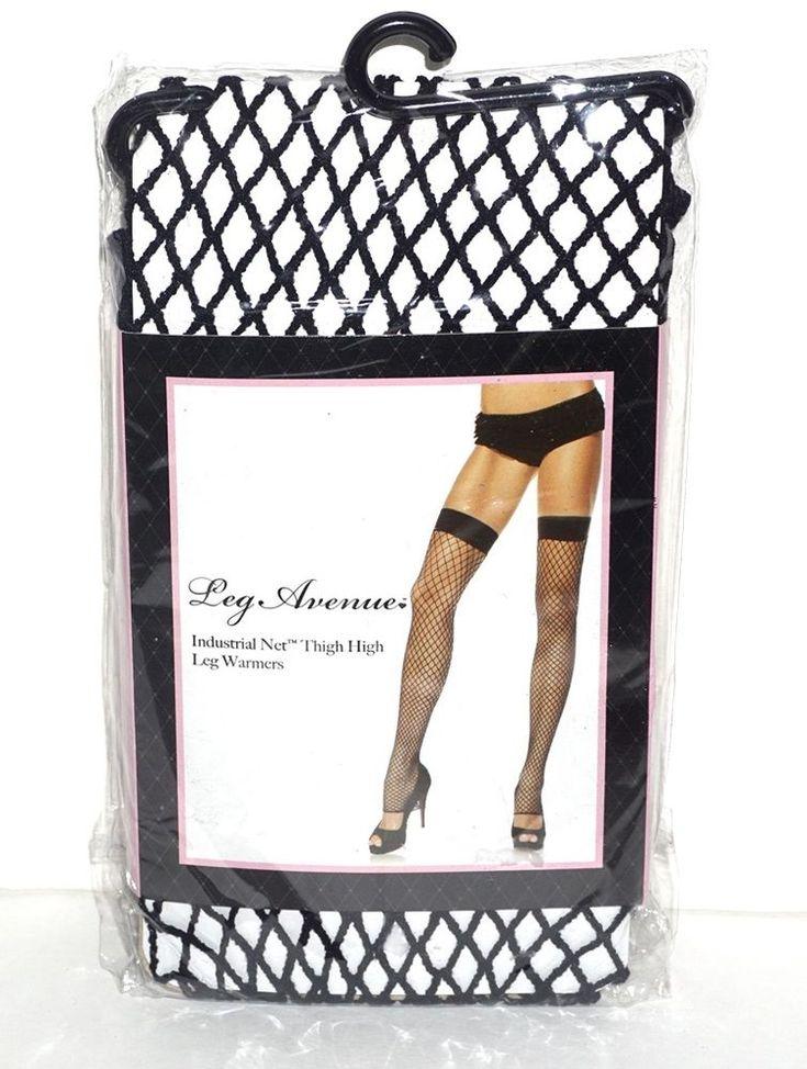 Leg Avenue Industrial Net Thigh High Leg Warmers 90-100 lbs One Size 9089 NIP #LegAvenue #ThighHighs