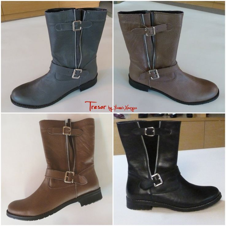 Μποτάκι: Δέρμα, Εξωτερικό Φερμουάρ Διχάλα, Διακόσμηση με 2 Τοκάδες (Κωδικός: 750.108) | Χρώματα: Γκρί, Μαύρο, Πούρο, Ταμπά | Μεγέθη: 42-45 | Τιμή: 80 € | Βρείτε το @ www.GreekShoes.net και @ www.e-Tresor.gr