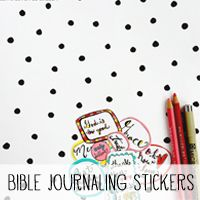 Free Printable Stickers for Bible Jouraling or Planners via Melissa @ PinkPaperP…