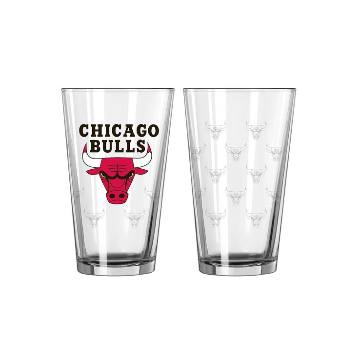 Chicago Bulls 2-pc. Pint Glass Set, Multicolor