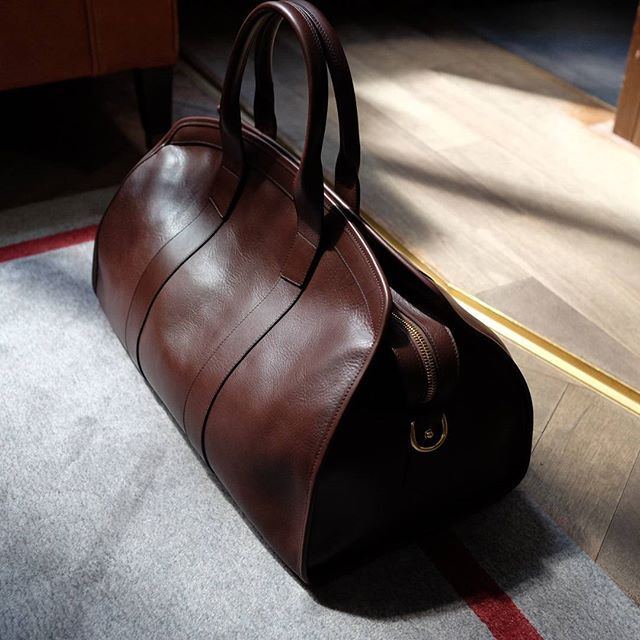 Lots of new Frank Clegg available again at The Armoury! Pictured is the Aiden duffel in brown calf. #thearmoury #frankclegg