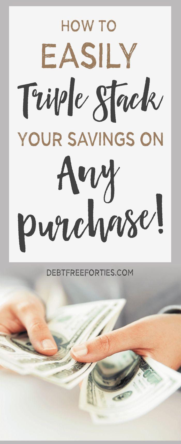 How to Triple Stack your Savings on ANY Purchase! #savings #holidaysavings #shopping