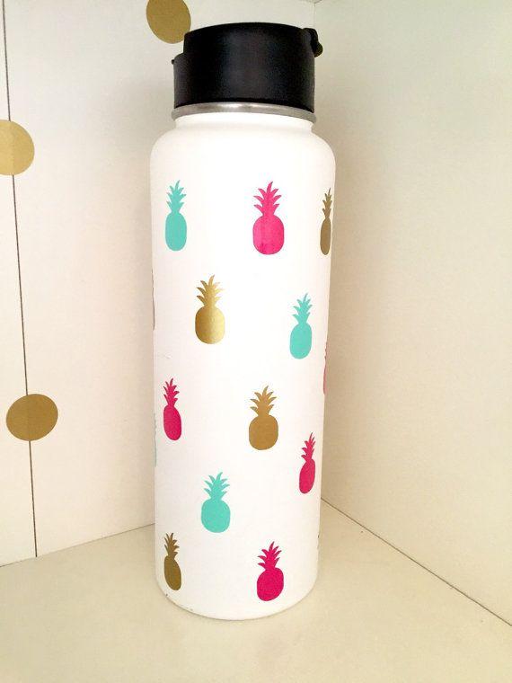 Pineapple Decal Set For Hydro Flask Yeti Tumbler Water