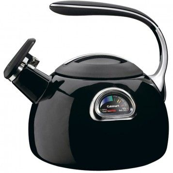 Cuisinart Black PerfecTemp 3-Quart Teakettle: Red Kitchen, Enamels Teakettl, Perfectemp Teakettl, Cuisinart Perfectemp, Kitchens Dining, Perfectemp Porcelain, Perfectemp Teas, Teas Kettles, Red Perfectemp