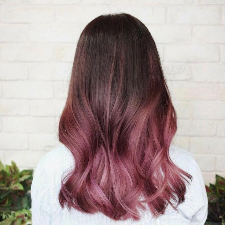 Tye And Dye Pastel Pink On Brown Hair Shaded Tyeanddye Rose Pastel Brown Pastel Shaded Tyeanddye Dark In 2020 Brown Ombre Hair Ombre Hair Color Dip Dye Hair