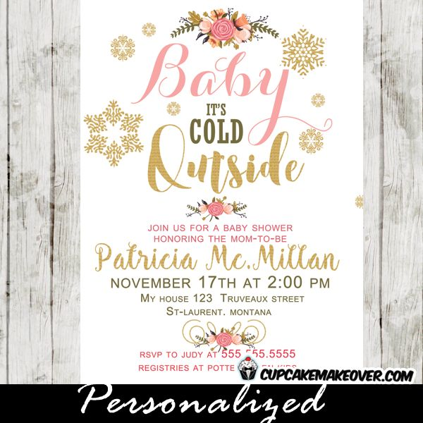 24 best winter wonderland baby shower invitations images on, Baby shower invitations