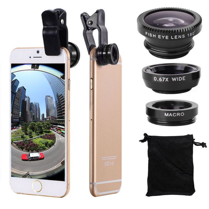 Mobile Phone Lens  Original 3-in-1 Wide Angle Macro Kit with Clip 0.67x for iPhone Lentes Mobile Phone ** AliExpress Affiliate's Pin. View the item in details by clicking the VISIT button