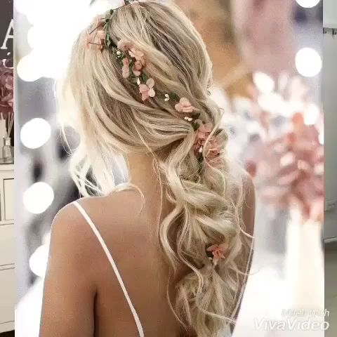 Whether you're thinking of using your hair up or down on your wedding day, accessorize it with a floral crown or fancy headpieces, wear a veil or no, find inspiration you'll love and want to copy here. Video: @ulyanaaster // mysweetengagement.com // #weddinghairstyles #weddinghair #bridalhair #bridalhairstyle #hairtutorial #hairstyle #hairdo #bridalbeauty