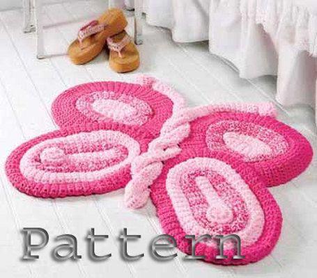 Tappeto Crochet Pattern di farfalla per di ErenaCrochetStudio