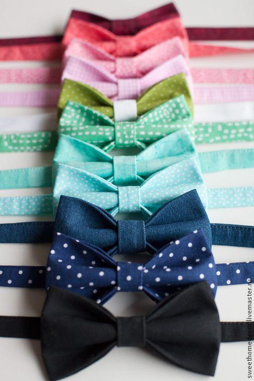 Купить Галстук-бабочка - коричневый, бежевый, серый, в горох, черный, галстук-бабочка, бабочка женская