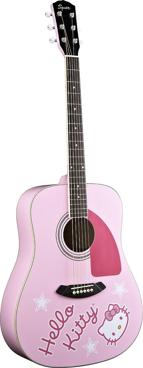 hk fender does it come in blue hello kitty pinterest plays acoustic guitars and blue. Black Bedroom Furniture Sets. Home Design Ideas