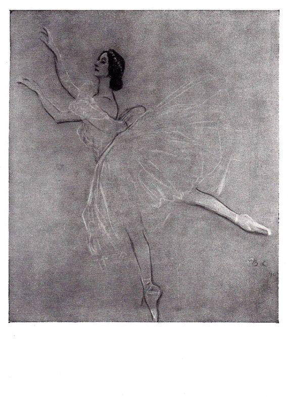 V. Serov Portrait of Anna Pavlova Postcard  by RussianSoulVintage