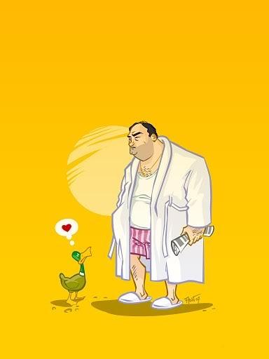 The Sopranos (Those God damn ducks)