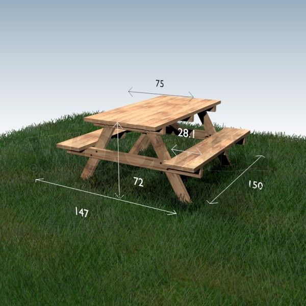 Picnic table - woodworking plan