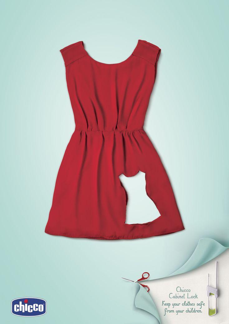 切り抜かれたドレスの秘密とは? 1枚のグラフィックにストーリー感じるプリント広告