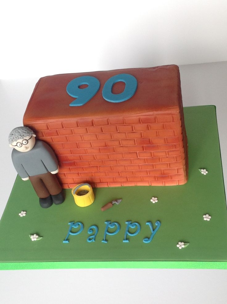 90th Birthday cake for an amazing builder.  Wall cake