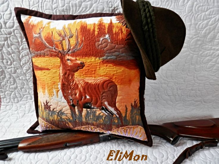 deer Pillow quilting...:-)