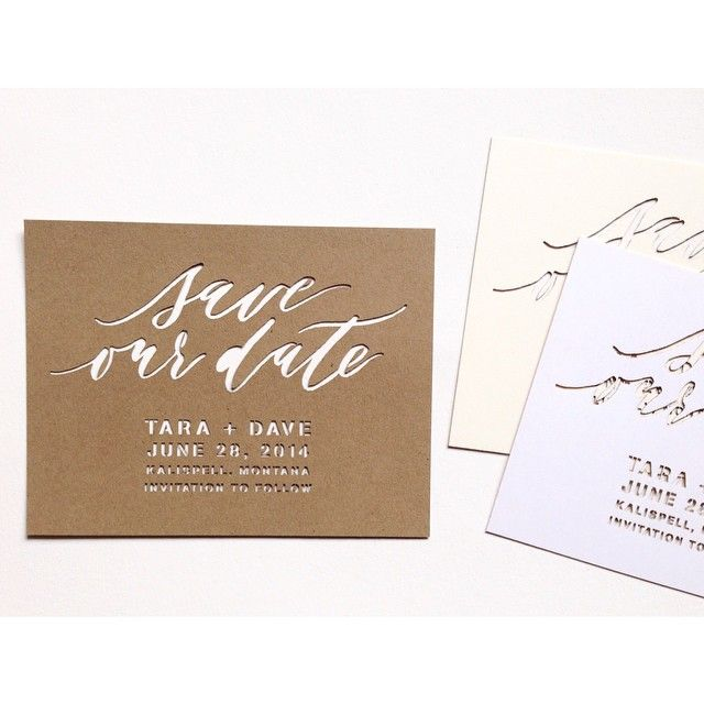 Laser cut save the date template - by Cast Caligraphy